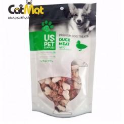 تشویقی سگ استخوانی us pet دور گوشت با طعم اردک 100گرم