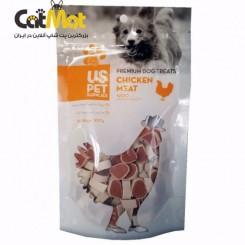 تشویقی سگ مینی سوشی us pet با طعم مرغ 100گرم