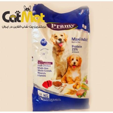 غذا خشک پرامی سگ بالغ نژاد بزرگ با طعم گوشت مرغ و برنج 15 کیلوگرمی