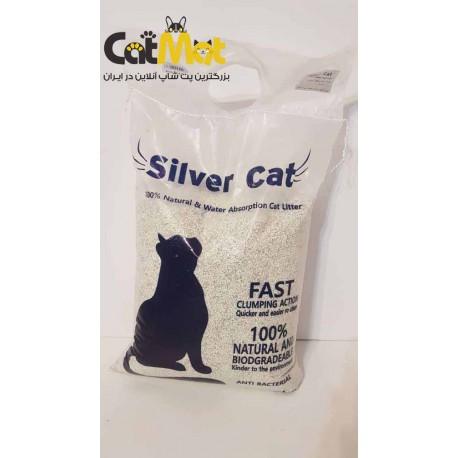 خاک بستر گربه سیلورکت Silver Cat