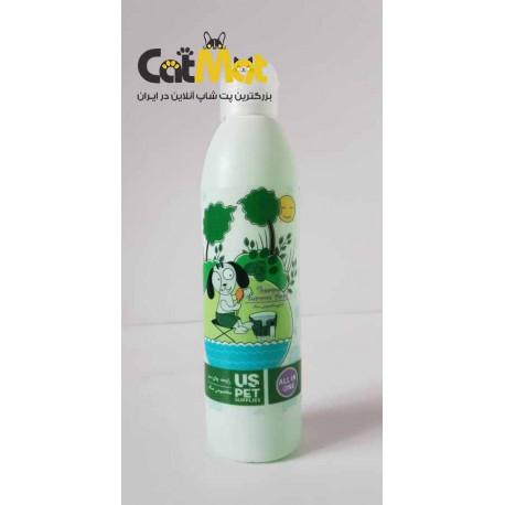 شامپو مخصوص سگ Us Pet با رایحه چای سبز(300 سی سی)