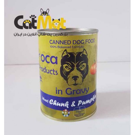 خوراک کنسرو سگ لوکا با طعم مرغ و کدو
