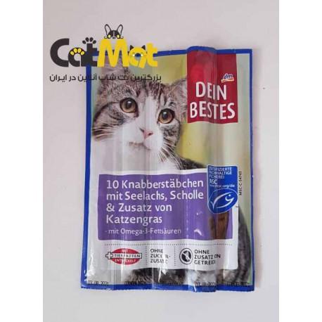 تشویقی مداد 5 عددی گربه Dein Bestes با طعم سالمون